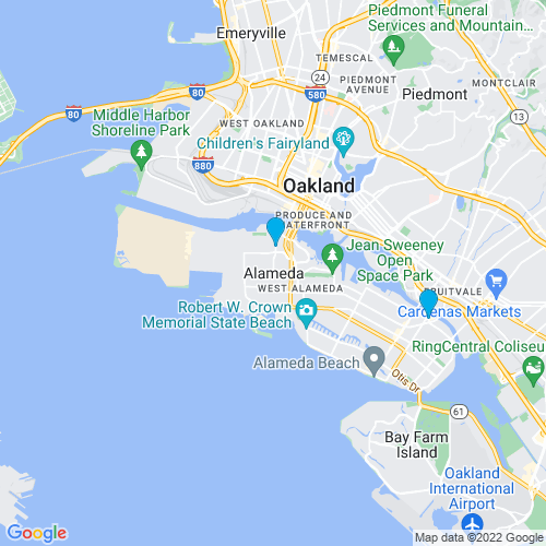 Map of Alameda, CA