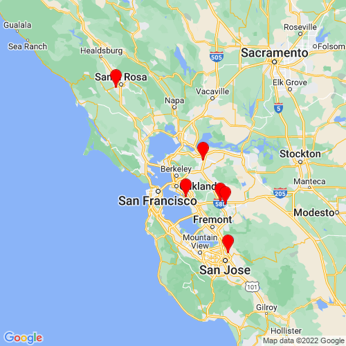 Map of Albany, CA