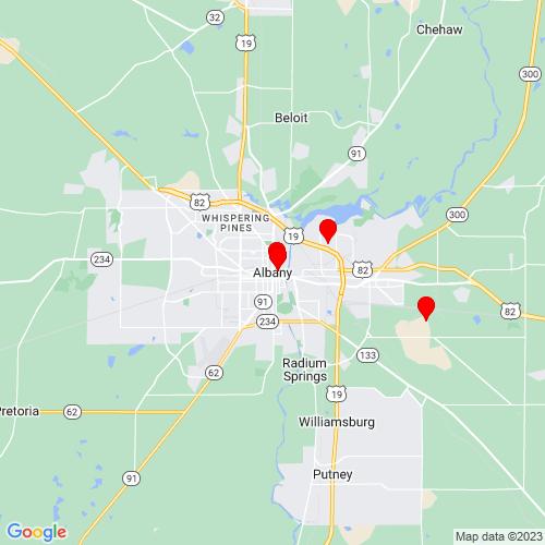 Map of Albany, GA