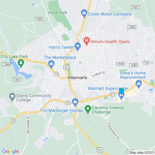Map of Albemarle, NC