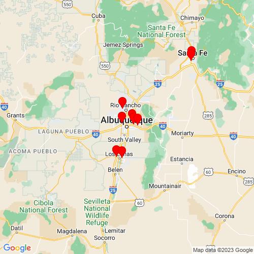 Map of Albuquerque, NM