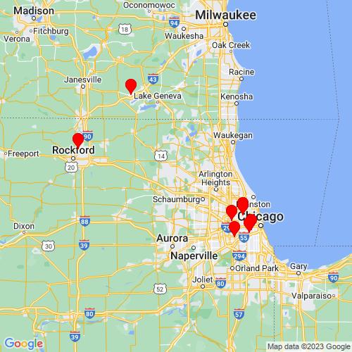 Map of Algonquin, IL