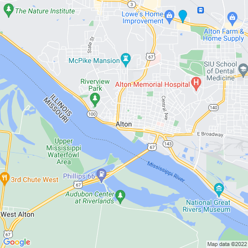 Map of Alton, IL