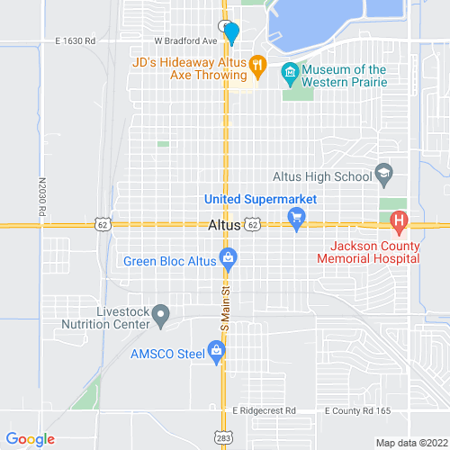 Map of Altus, OK