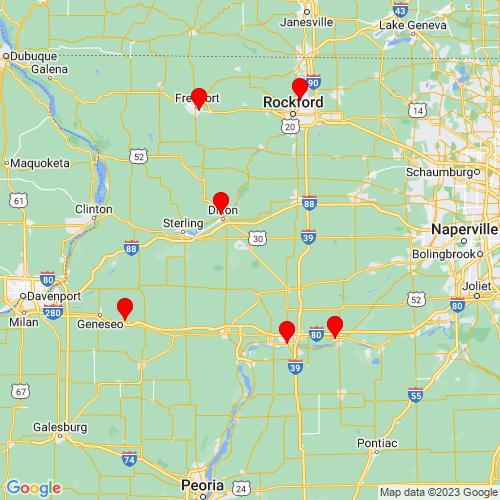 Map of Amboy, IL