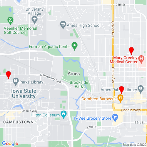 Map of Ames, IA