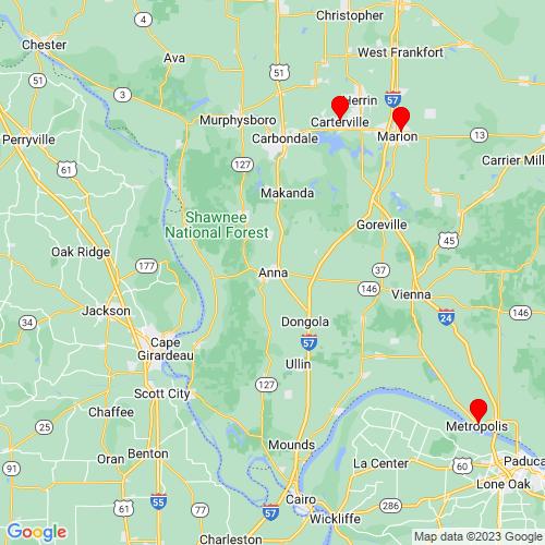 Map of Anna, IL