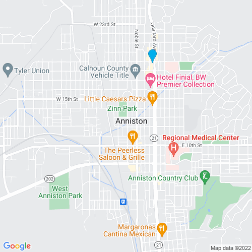 Map of Anniston, AL