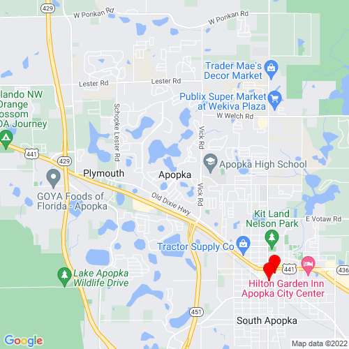 Map of Apopka, FL