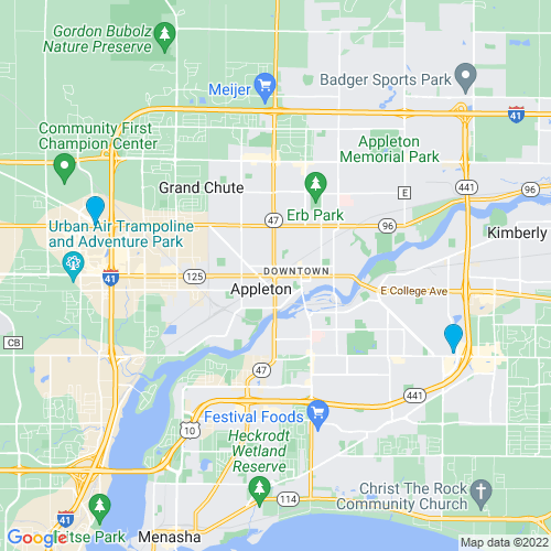 Map of Appleton, WI
