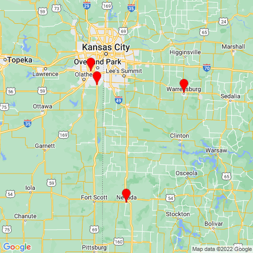Map of Archie, MO
