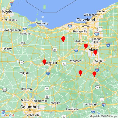 Map of Ashland, OH
