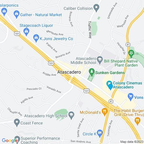 Map of Atascadero, CA