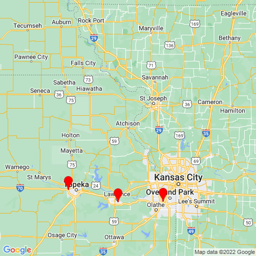 Map of Atchison, KS