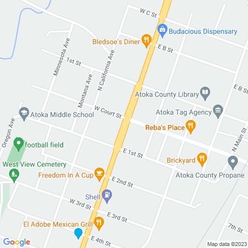 Map of Atoka, OK