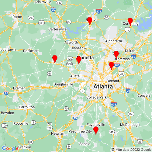 Map of Austell, GA