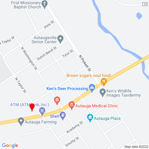 Map of Autaugaville, AL