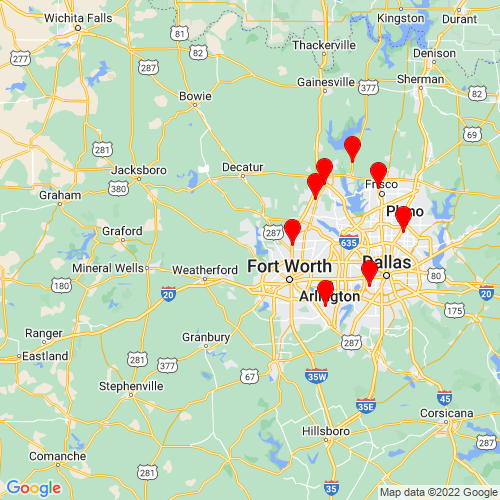 Map of Azle, TX