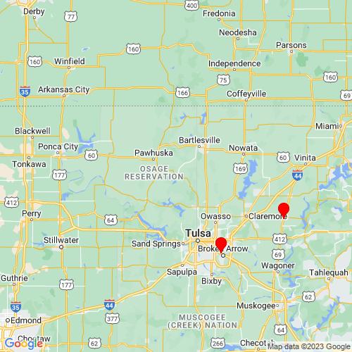Map of Barnsdall, OK