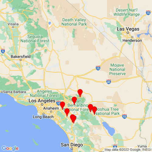 Map of Barstow, CA