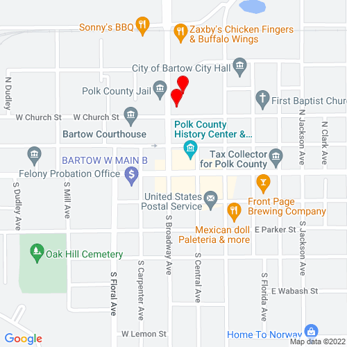 Map of Bartow, FL
