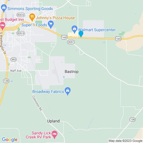 Map of Bastrop, LA