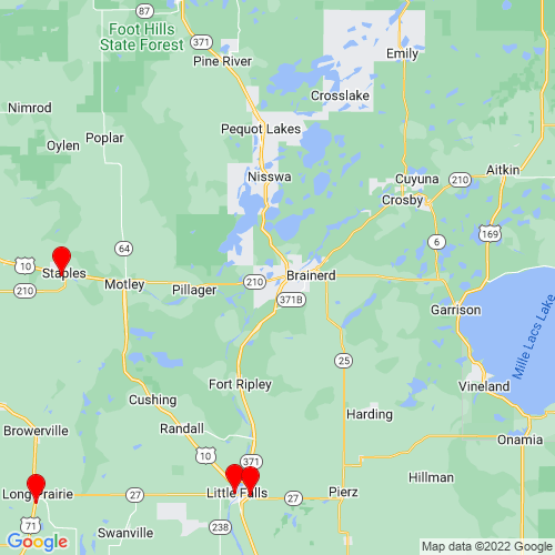 Map of Baxter, MN