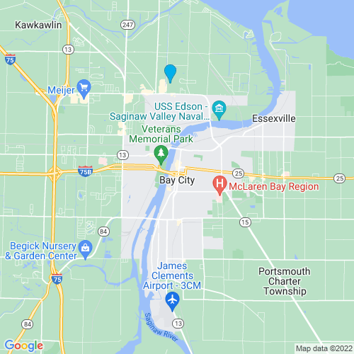 Map of Bay City, MI