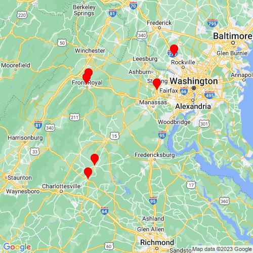 Map of Bealeton, VA