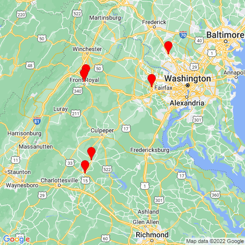 Map of Bealeton, VA