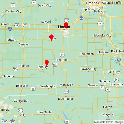 Map of Beatrice, NE