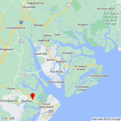Map of Beaufort, SC