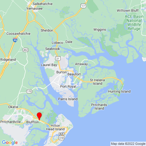 Map of Beaufort, SC