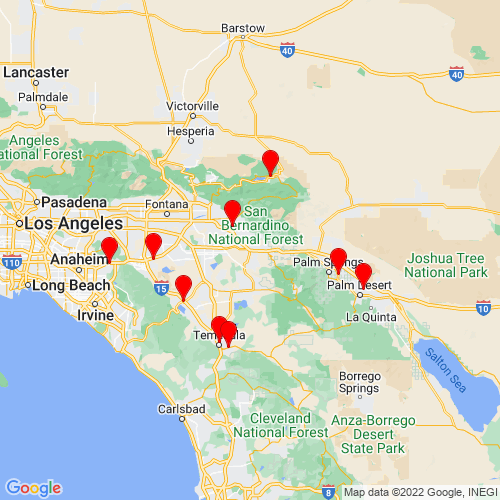 Map of Beaumont, CA