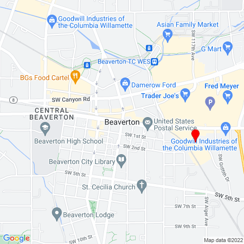 Map of Beaverton, OR