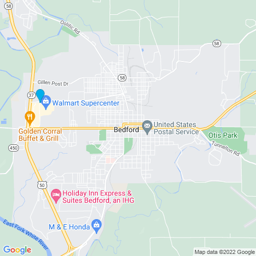 Map of Bedford, IN