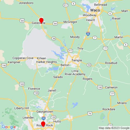 Map of Belton, TX