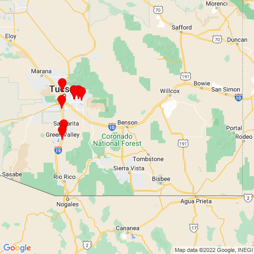 Map of Benson, AZ