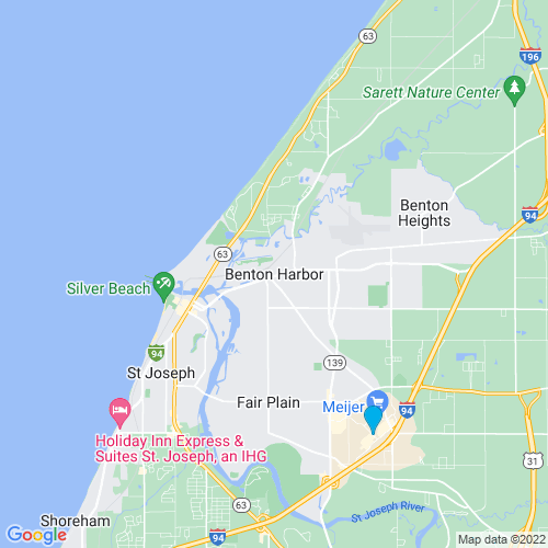 Map of Benton Harbor, MI