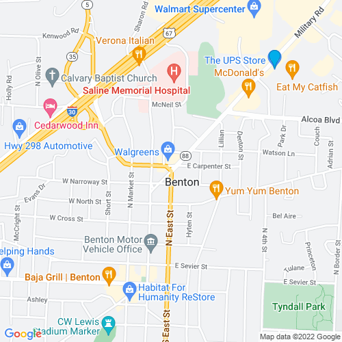 Map of Benton, AR