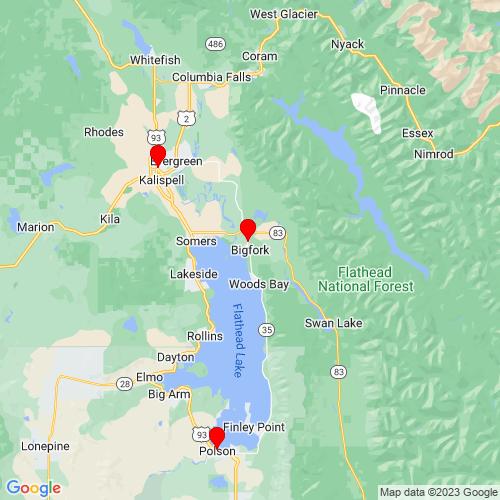 Map of Bigfork, MT