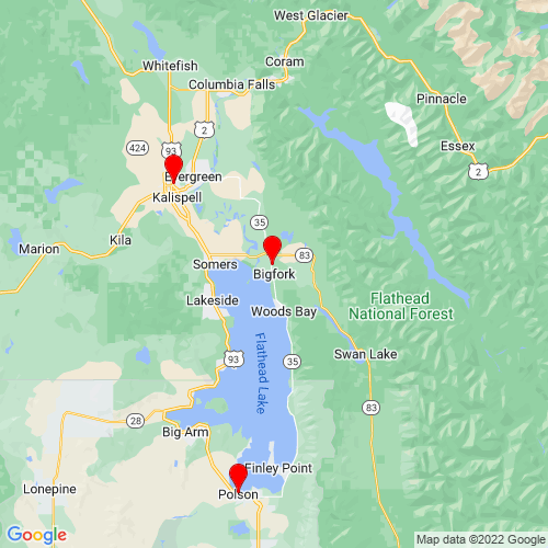 Map of Bigfork, MT