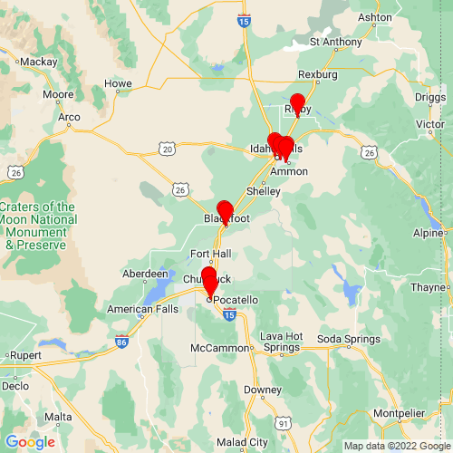 Map of Blackfoot, ID