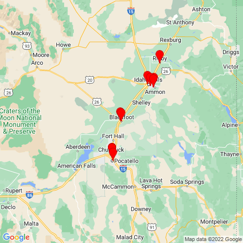 Map of Blackfoot, ID