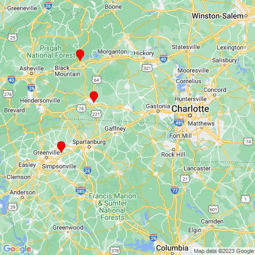 Map of Blacksburg, SC