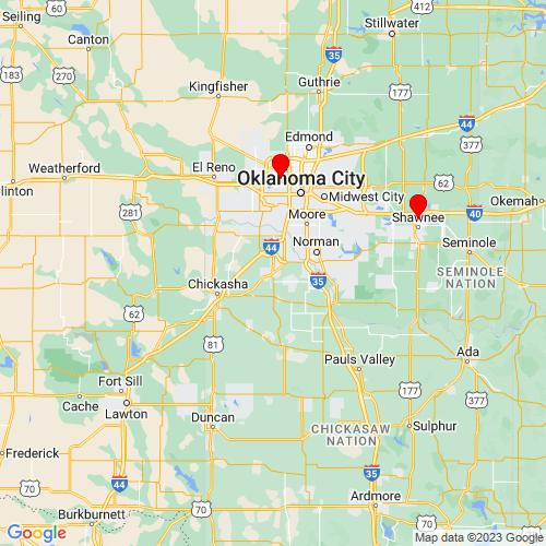 Map of Blanchard, OK