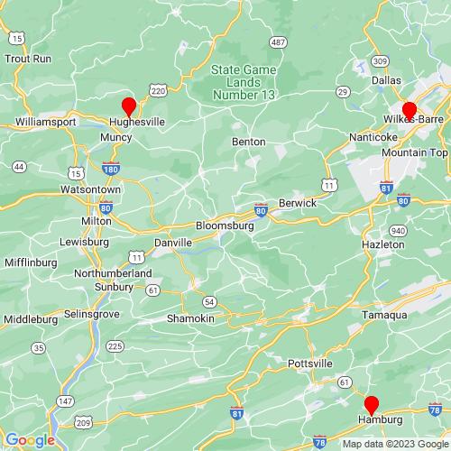 Map of Bloomsburg, PA