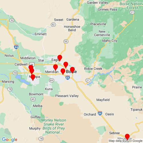 Map of Boise, ID