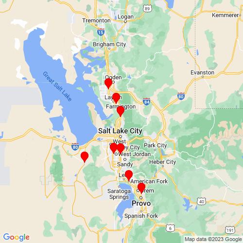 Map of Bountiful, UT