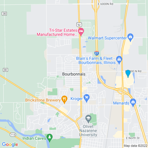 Map of Bourbonnais, IL